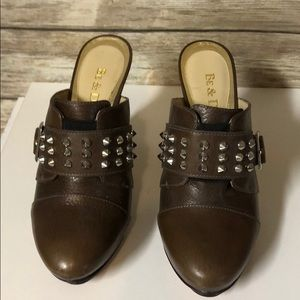 BE & D genuine leather clogs!